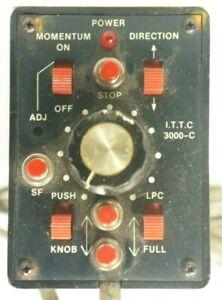 I.T.T.C. 300C Handheld Walkaround 9-Switch Model Train Controller Unknown Maker