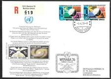 United Nations Space Cover 1976. Peace in Outer Space WERABA-76 Switzerland