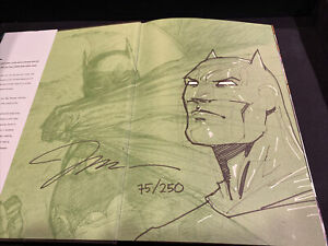 Batman Hush Absolute Jim Lee Signed Sketch Remarque Dynamic Forces /250 *RARE*