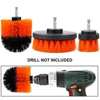 3PCS Electric Drill Cleaning Nylon Brush Bristle Drill Brush Rotary Scrubber Set