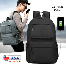 Travel Laptop Backpack Business Anti Theft Slim Durable Laptops Bage w USB Cable