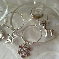 Wine Glass Charms X 10 Christmas Table Decoration Stocking Filler Secret Santa