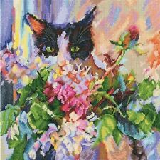 "Counted Cross Stitch Kit RTO - ""Cat's green glance"""
