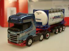 "Herpa SCANIA cr20 HD swapcontainer-autoarticolati ""Corriere Anhalt"" - 308199 - 1/87"