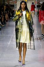 MIU MIU F/W 2014 RUNWAY Green PVC PU Vinyl Raincoat Coat Jacket IT40/US6 NWT