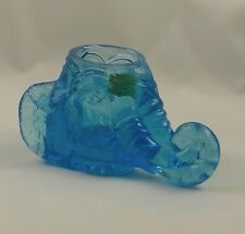 ALICE BLUE Boyd Glass ELEPHANT TOOTHPICK HOLDER Votive Cup Figurine