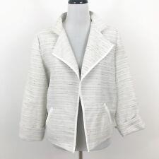 Chico's Ivory Tuscan Tweed Theresa Long Sleeve Belladonna Jacket Large New
