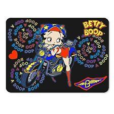 "Betty Boop Refrigerator Magnet Black Motorcycle 4x6"" Lenticular #BB-206-MAL#"