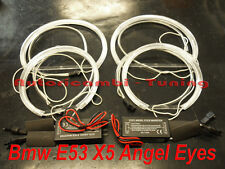 KIT TRASFORMAZIONE ANGEL EYES CCFL NEON 6000K PER BMW X5 E53 LUCE BIANCHISSIMA