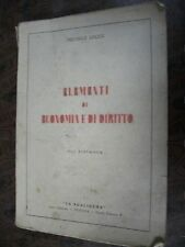 LECCE-ELEMENTI DI ECONOMIA E DIRITTO-XIII RISTAMPA-1939