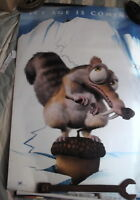 ICE AGE COMING SOON SCRAT DOUBLE SIDED  USED 1 SHEET AUST VERSION  MOVIE POSTER