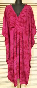 Long  Kaftan Dress new Grecian style cool Rayon material fit Plus size 24-34 New