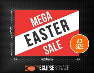 Mega EASTER Sale Promotional Poster A3