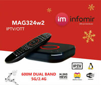 New Original Infomir MAG324W2 Mag 324W2 324 IPTV Set top box Builtin WIFI