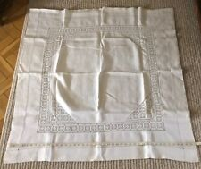 Fantastic Vintage Antique Embroidered Square Table Cloth