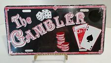 The Gambler Funny Novelty Embossed License Plate