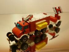 SIKU 2913 UNIMOG FIRE ENGINE WATER CANON + TRAILER - RED 1:55? - VERY GOOD