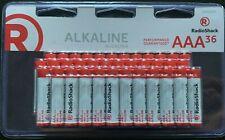 Lot of (12) RadioShack 36-Count 1.5V AAA Alkaline Battery Batteries NEW 36-Pack