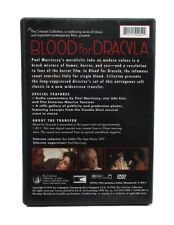 1998 Criterion, Andy Warhol 'Blood For Dracula 1974', Complete, EX Condition