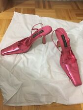 Pied A Terre Women's Pink Slingback Heels Size 39