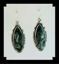 Native American Sterling and Seraphinite (Angle Wing) Earrings