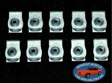 Ford Lincoln Mercury Factory Correct #6 Screw Bolt U Clip Panel J Nut 10pcs N