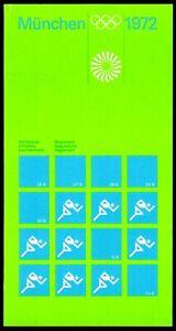 Olympische Spiele 1972 München Reglement für Leichtathletik im Heft mit allen Be
