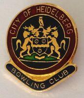 City Of Heidelberg Bowling Club Badge Rare Vintage (K1)