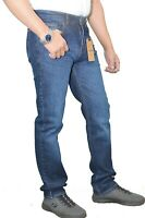 Mens Jeans Designer 5Pocket 100% Genuine RiverSide Collection Dark Blue Slim FIT