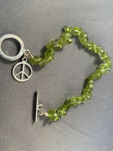 Green Peace Sign Bracelet