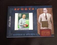2010 Panini Century Sports Relic Stamps Knute Rockne 20/250 Nice