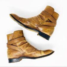 """Men's JM Weston sz 9D Leather Antique'd """"Worn In"""" Boots"""
