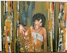 "New listing Frank IRAOLA (1952- ) -""The Painter""- 2004 - Oil on Canvas CUBAN ART"