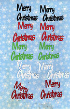 """QuicKutz Silhouette Small """"Merry Christmas"""" Die Cut Embellishmets, Sizzix"""