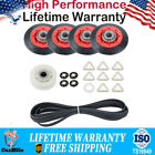 4392067 Dryer Repair w/ 4 Rollers Pulley & Belt Kit For Whirlpool Kenmore Maytag photo