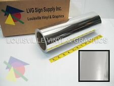 "12"" X 4ft - Silver Chrome Polished -*LVG InterCal*- Craft & Hobby Vinyl Film"