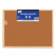 Just Stationery Cork Board 600x800mm - Notice Memo Home House Kitchen Office