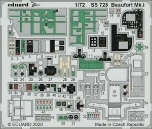 Eduard 1/72 Bristol Beaufort Mk.I Zoom Set # SS725