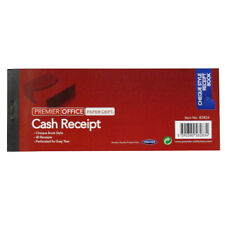 Receipt Book - 40 Sheets, Cheque Book Style – Size 203mm x 79mm
