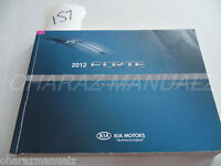 2012 KIA Forte Owner Owners Owner's Manual A1MO-EU18D OEM