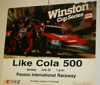 VERY RARE EARLY 80'S LIKE COLA 500 AT POCONO FULL COLOR POSTER 16 X 20