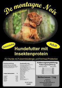 Trockenfutter mit Insektenprotein Hunde mit Allergien & Hautproblemen (7€ /1kg)