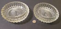 Two (2) VINTAGE CRYSTAL ASHTRAYS: Big & Heavy For Cigarettes or Cigars