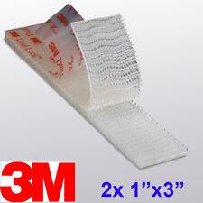 """3M 1"""" x 3"""" 2X Dual Lock SJ3560 Type 250 VHB Clear Reclosable Fastener E-ZPASS"""