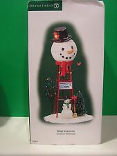 DEPT 56 SNOWMAN WATERTOWER Village Accessories NEW in BOX