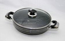Una AC 30cm Induction antiadhésif Compatible Wok poêle à Sauce avec couvercle en verre