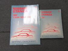 1992 Nissan Stanza Service Repair Manual Set Model U12 Series