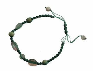 Bracelet Macrame Serpentine Stone Real Creation Hand Made 21271