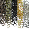 50-500Pcs Open Jump Rings Round Oval Split findings Craft Jewelry Making 4-20mm
