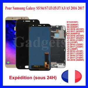 Ecran LCD Pour Samsung Galaxy S5/S7/J3/J5/J7/A3/A5 2016 2017 Blanc/Noir/Bleu